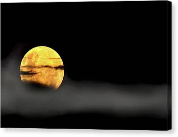 Canvas Print featuring the photograph Lunar Mist by Marion Cullen