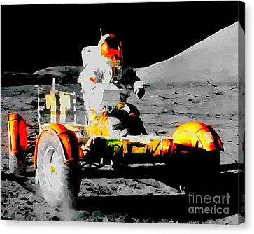 Lunar Roving Vehicle Canvas Print by Art Gallery