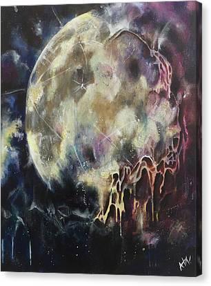 Lunar Transformation Canvas Print by Amy Williams