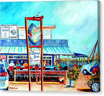 Friends Canvas Print - Lunch At The Clam Bar by Phyllis London