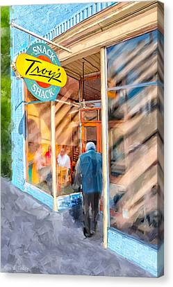 Lunch At Troy's Snack Shack Canvas Print by Mark Tisdale
