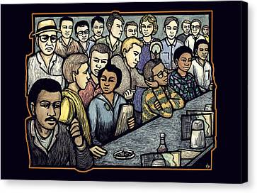 Lunch Counter Canvas Print by Ricardo Levins Morales
