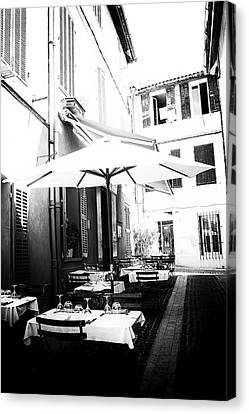 Lunch In The Back Streets Canvas Print by Georgia Fowler