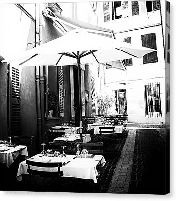 Lunch In The Back Streets - Square Canvas Print