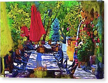 Lunch In Wine Country Canvas Print
