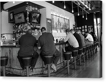 Old Diner Seating Canvas Print - Lunch Rush by Robert Wilder Jr