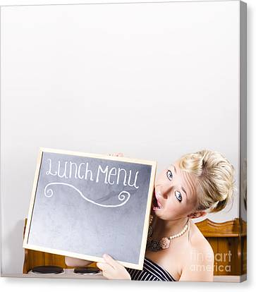 Canteen Canvas Print - Lunch Time Menu by Jorgo Photography - Wall Art Gallery