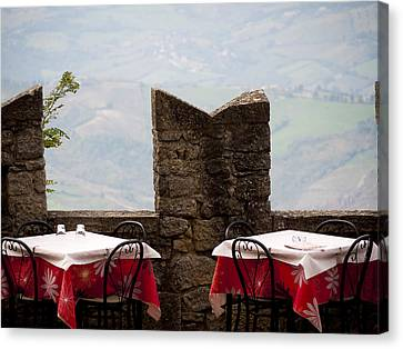 Lunch With A View Canvas Print by Rae Tucker