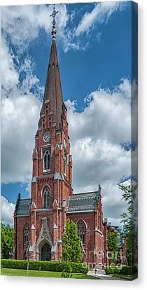 Canvas Print featuring the photograph Lund All Saints Church by Antony McAulay