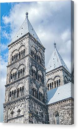 Canvas Print featuring the photograph Lund Cathedral In Sweden by Antony McAulay