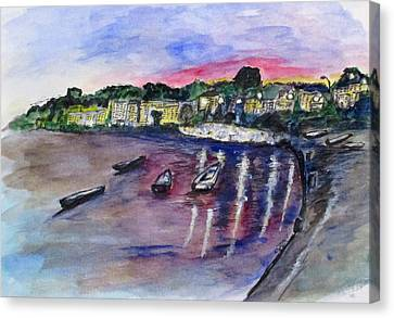Luogo Mergellina, Napoli Canvas Print
