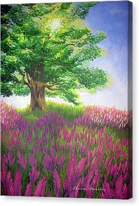 Lupine Afternoon Canvas Print by Sharon Marcella Marston