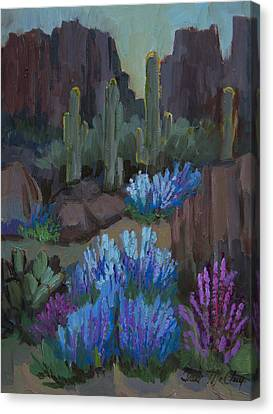 Lupine In Bloom At Boyce Thompson Arboretum Canvas Print by Diane McClary