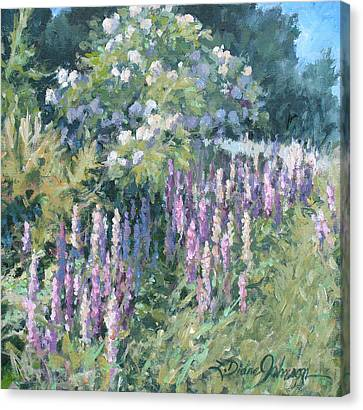 Lupine On Parade Canvas Print by L Diane Johnson