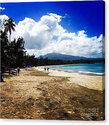 Luquillo Beach, Puerto Rico Canvas Print by The Art of Alice Terrill