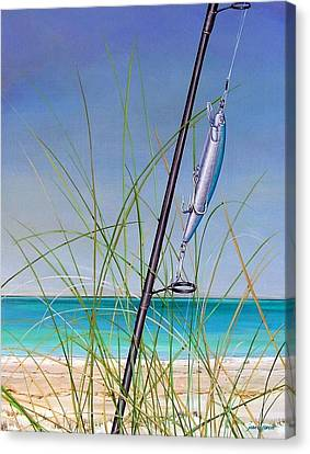 Lure Of The Island Canvas Print by Joan Garcia