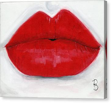 Luscious Lips Canvas Print by Debbie Brown