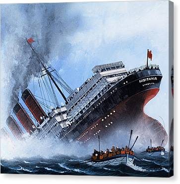 Lusitania Canvas Print by Mike Tregenza