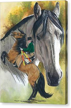 Canvas Print featuring the painting Lusitano by Barbara Keith