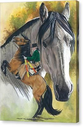 Lusitano Canvas Print by Barbara Keith