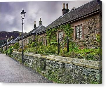 Luss Cottages Canvas Print