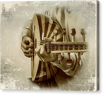 Grey Lutenist Canvas Print by Moustafa Al Hatter