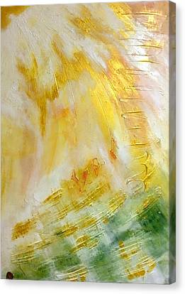 Canvas Print featuring the painting Lux by Ron Labryzz