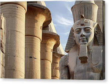 Canvas Print featuring the photograph Luxor by Silvia Bruno