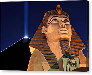 Canvas Print featuring the photograph Luxor by Tammy Espino