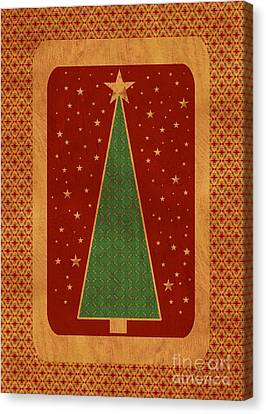 Luxurious Christmas Card Canvas Print