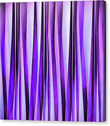 Luxurious Lilac, Purple And Silver Stripy Pattern Canvas Print