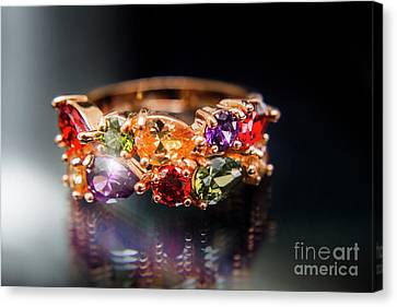Luxury Gemstone Fine Jewelry Rings Canvas Print by Jorgo Photography - Wall Art Gallery