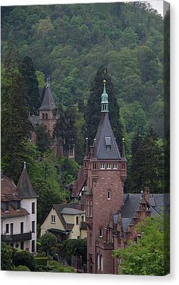 Luxury Hilltop Homes In Heidelberg Canvas Print by Teresa Mucha