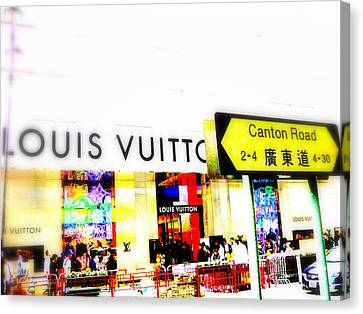 Luxury Shopping For Chinese In Hong Kong  Canvas Print by Funkpix Photo Hunter