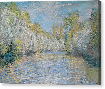 L'yerres Pres De Montgeron Canvas Print by Claude Monet