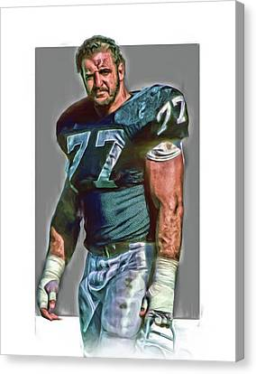 Lyle Alzado Oakland Raiders Oil Art Canvas Print by Joe Hamilton
