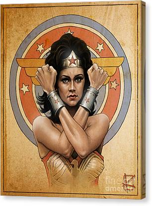Lynda Carter Canvas Print by Andre Koekemoer