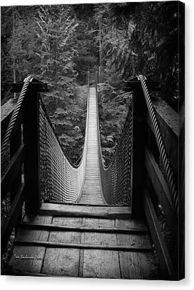 Lynn Canyon Bridge Canvas Print by Tom Buchanan