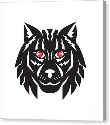 Lynx Cat Head Front Canvas Print
