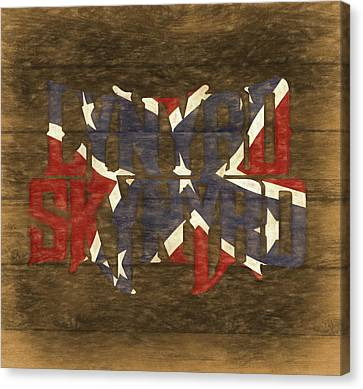 Lynyrd Skynyrd Barn Door Canvas Print by Dan Sproul