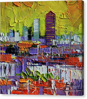 Lyon At Sunrise Canvas Print by Mona Edulesco