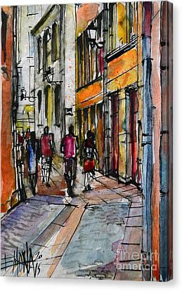 Lyon Cityscape - Street Scene #02 - Rue De Gadagne Canvas Print