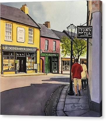 Lyons Tea Canvas Print by Janine Ferranti