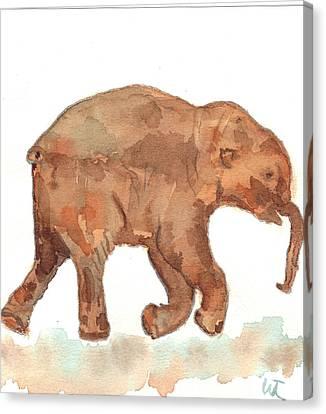 Lyuba The Ice Baby Mammoth  Canvas Print