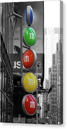 M And Ms In New York City Canvas Print