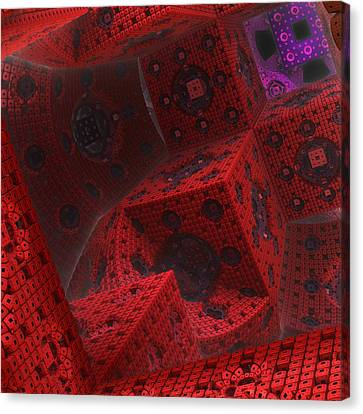 Canvas Print featuring the digital art M Cubed by Lyle Hatch