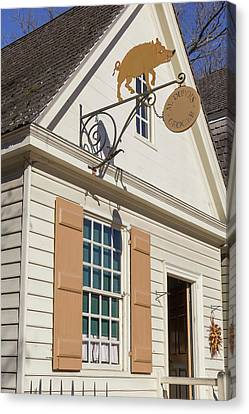 M Dubois Grocer Store Canvas Print by Teresa Mucha