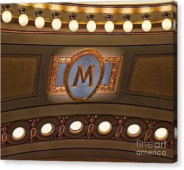 M Is For University Of Michigan Canvas Print by Rebecca Snyder