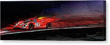 M Mcfly Racing Canvas Print by Alan Greene