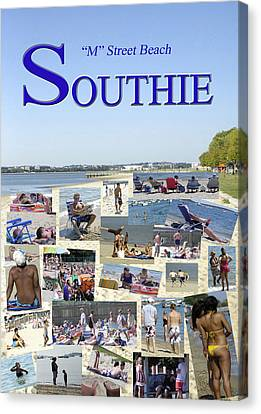 M Street Beach  Southie Canvas Print